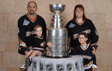 the Posner family with the Stanley Cup